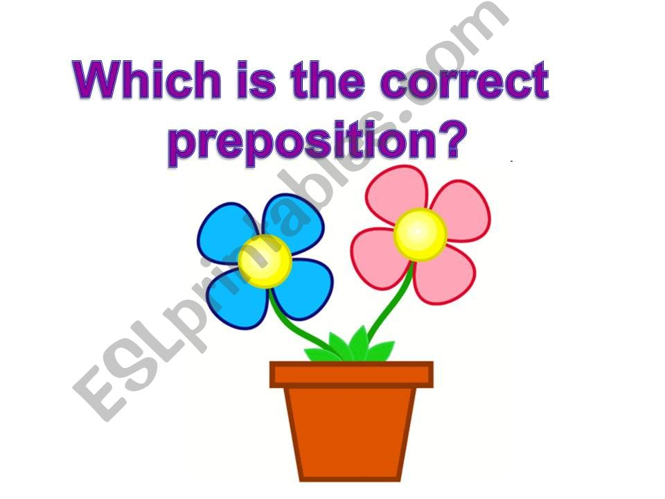 Prepositions powerpoint
