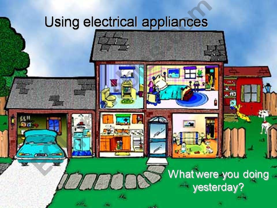 Parts of a house and electrical appliances