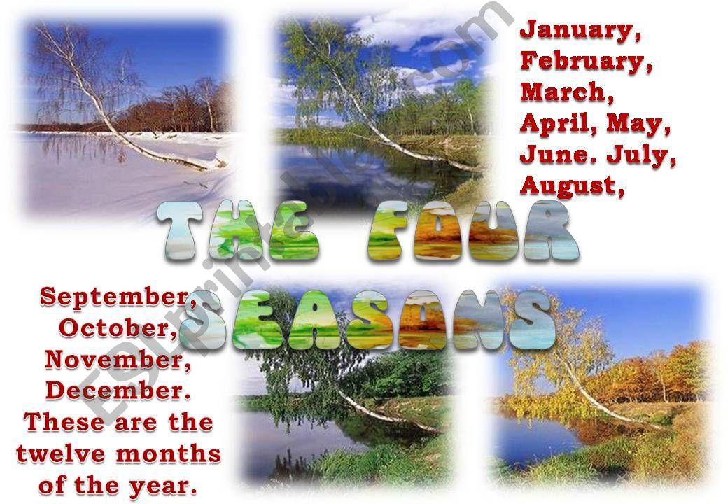 rhymes and seasons 1/4 powerpoint