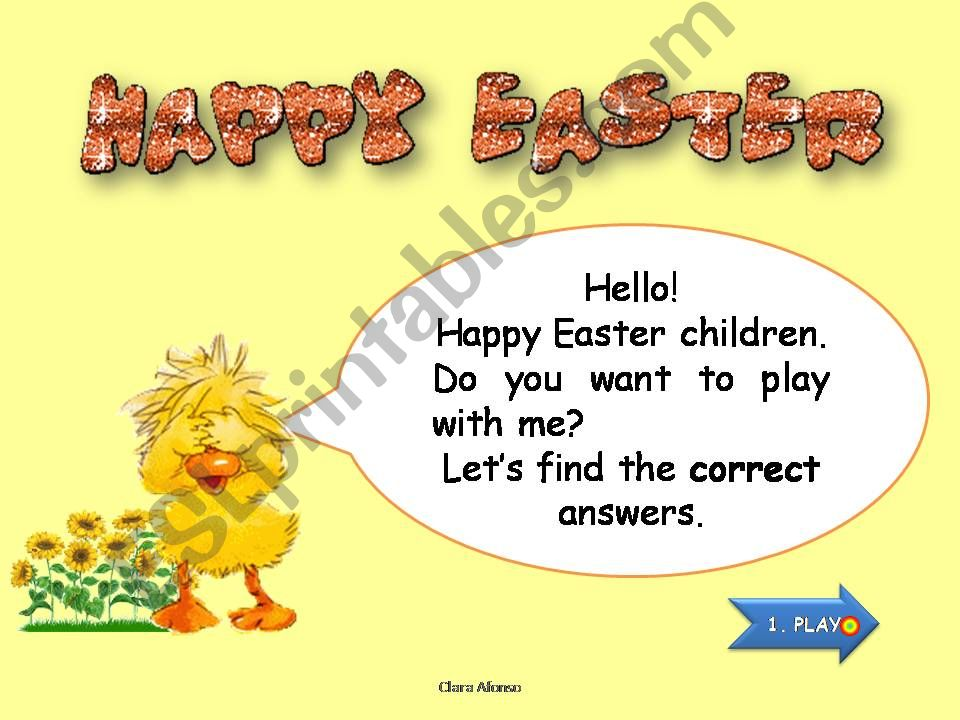 Easter game powerpoint