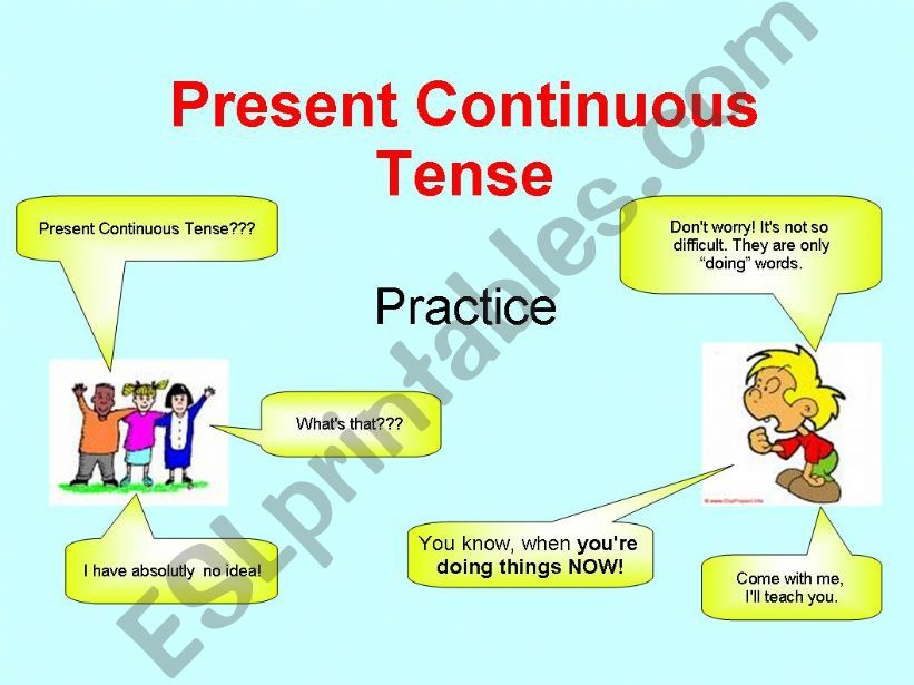 Present Continuous Tense powerpoint