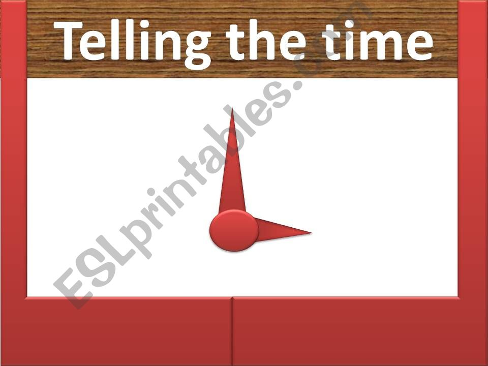 Telling the time powerpoint