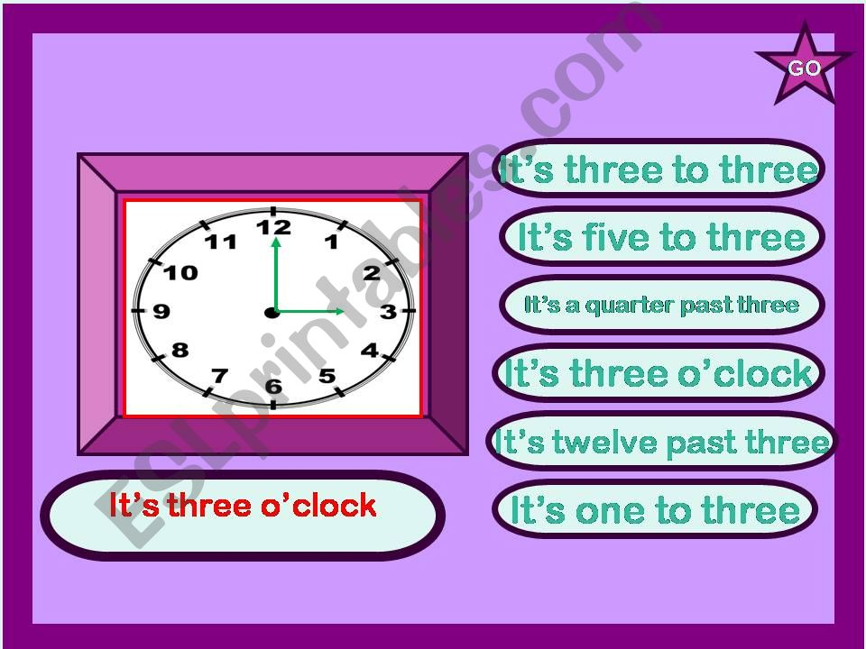 WHAT TIME IS IT? powerpoint
