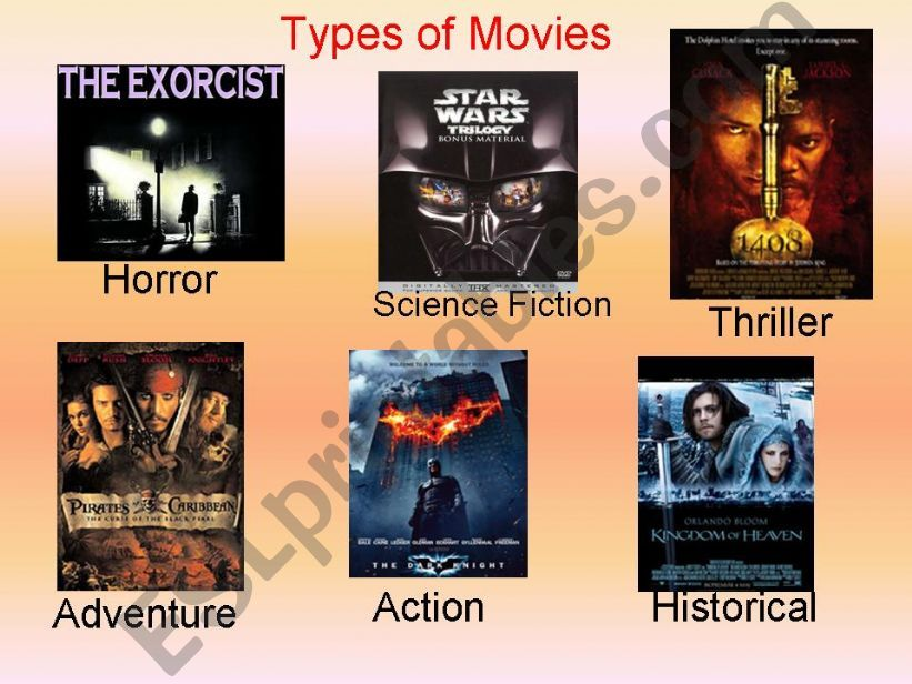 Types of movies powerpoint