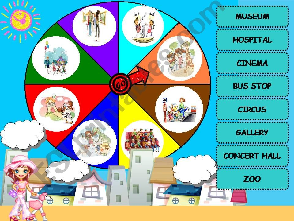 Places in the city - Wheel of Fortune