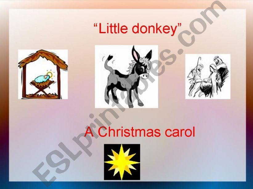 Little Donkey powerpoint