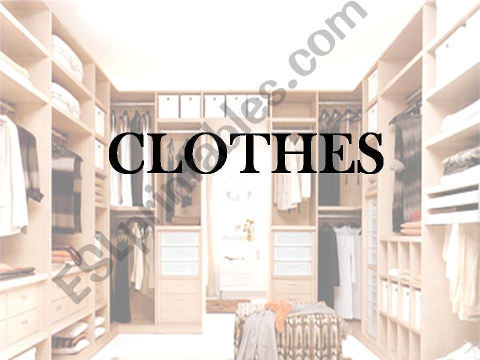 Clothes vocabulary powerpoint