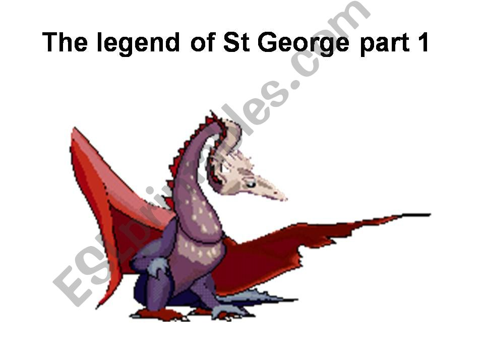 THE LEGEND OF SAINT GEORGE powerpoint