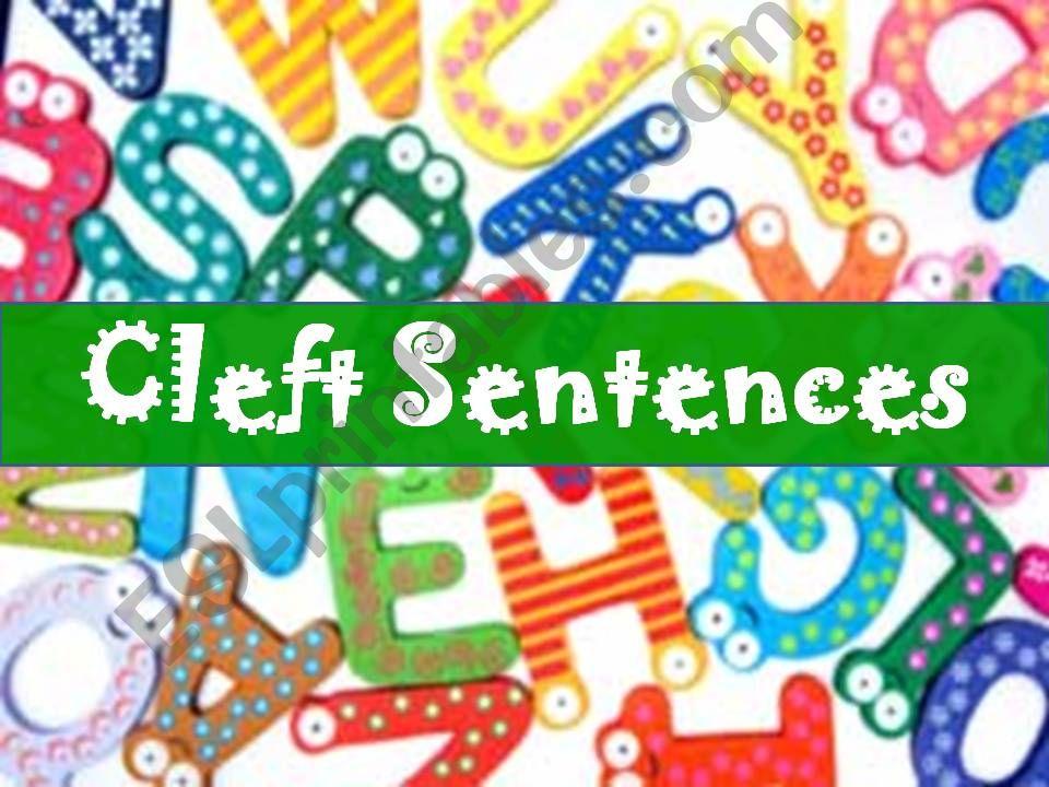 Cleft Sentences powerpoint
