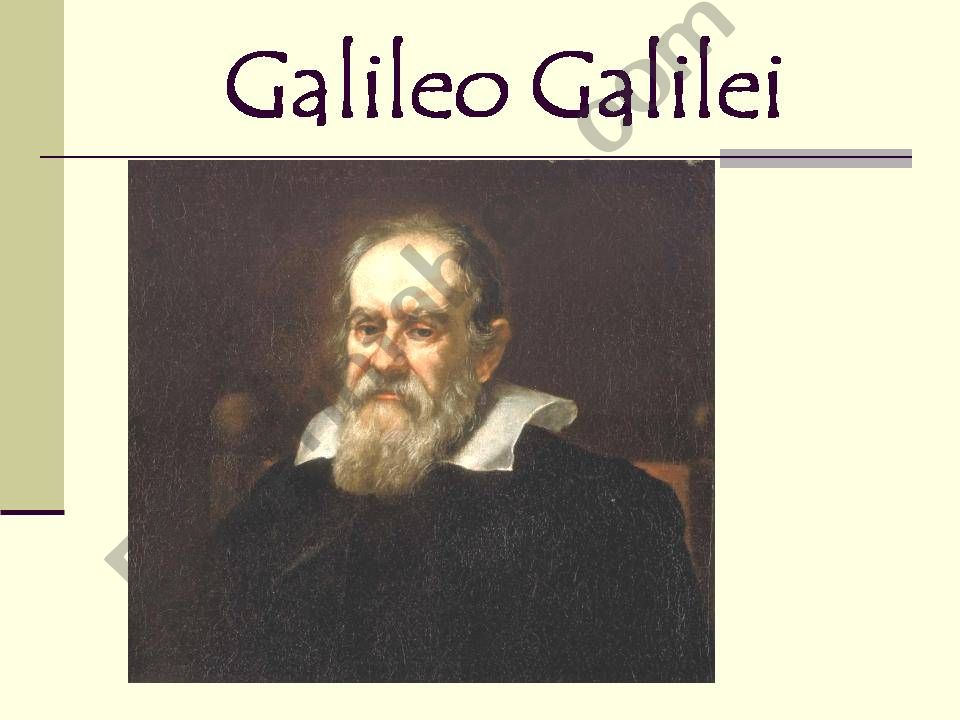 Great Scientists: GALILEO GALILEI