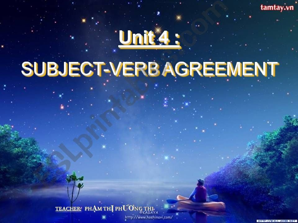 Esl English Powerpoints Subject Verb Agreement