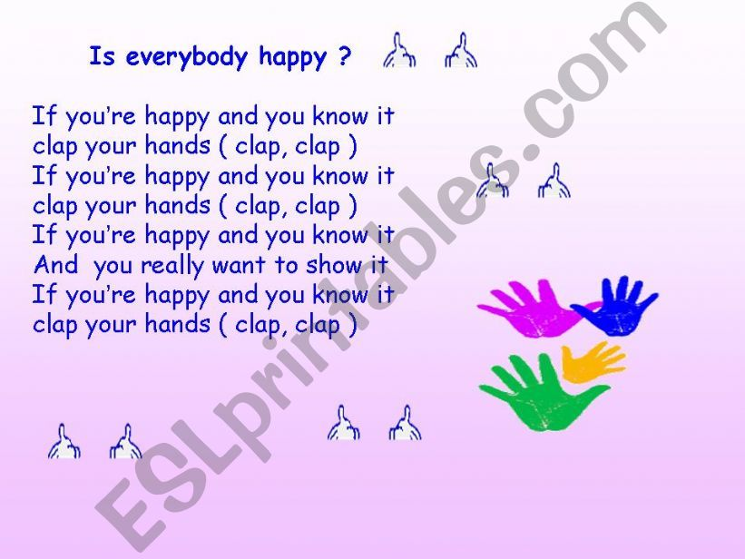 If you are happy powerpoint