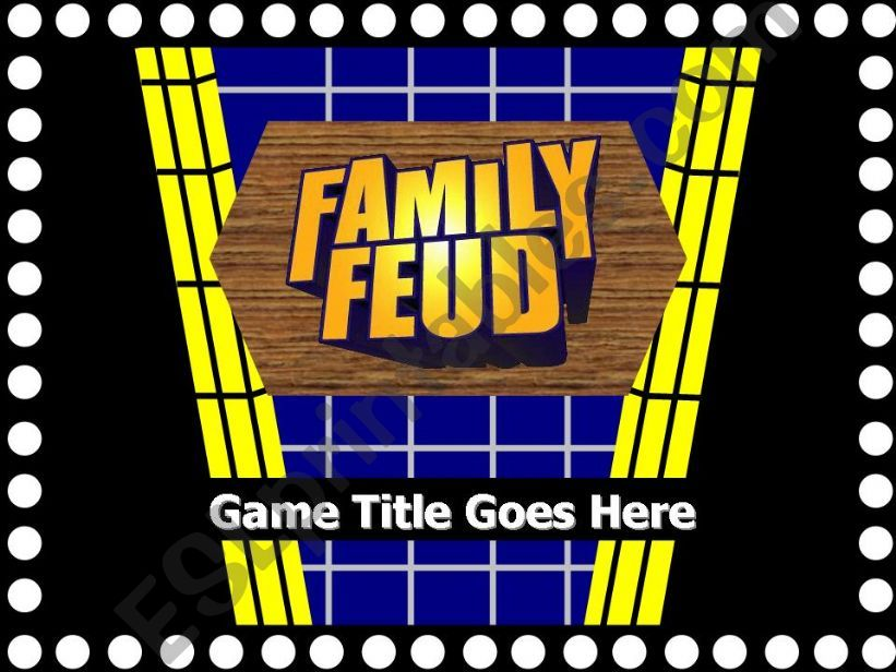 Family Fortune/Family Feud PPT Game