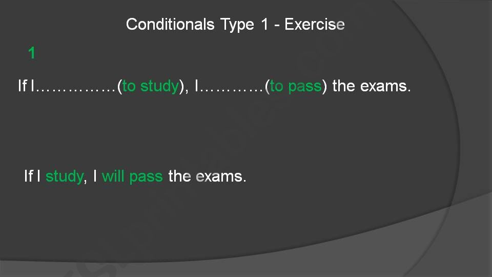 ´If´ conditional-type-1 powerpoint