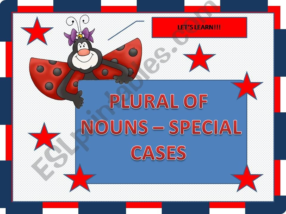 Plural of nouns - special cases