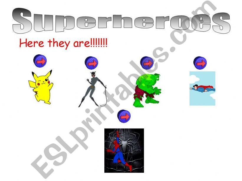 Superheroes abilities powerpoint