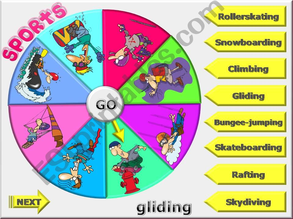 EXTREME SPORTS - Spin the wheel game (PART 3)