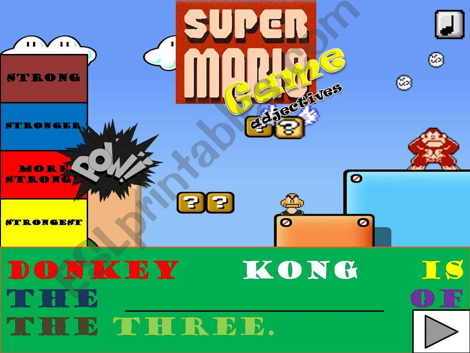SUPERMARIO COMPARATIVES/SUPERLATIVES GAME (WITH SOUND)