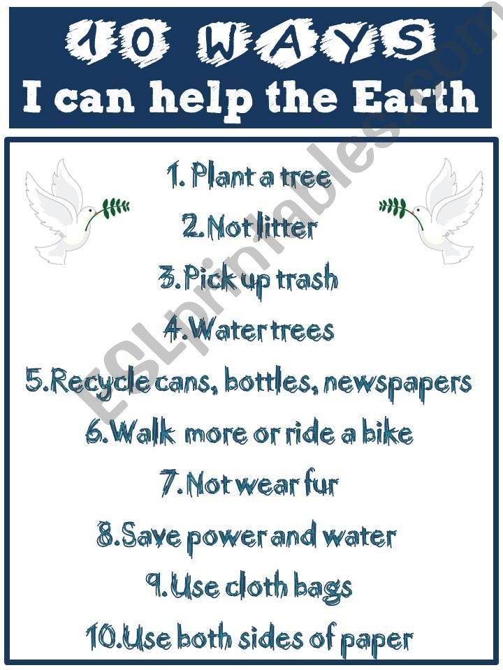 EARTH DAY (printable) powerpoint