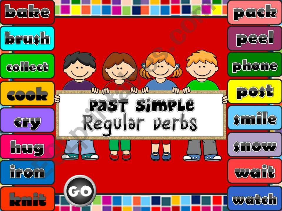 Past Simple - regular verbs *GAME* (1)