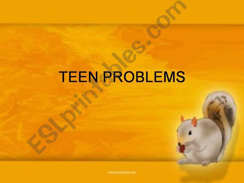 Teenage Problems powerpoint