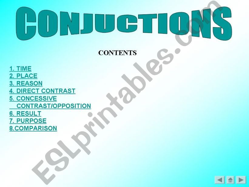 conjuctions powerpoint