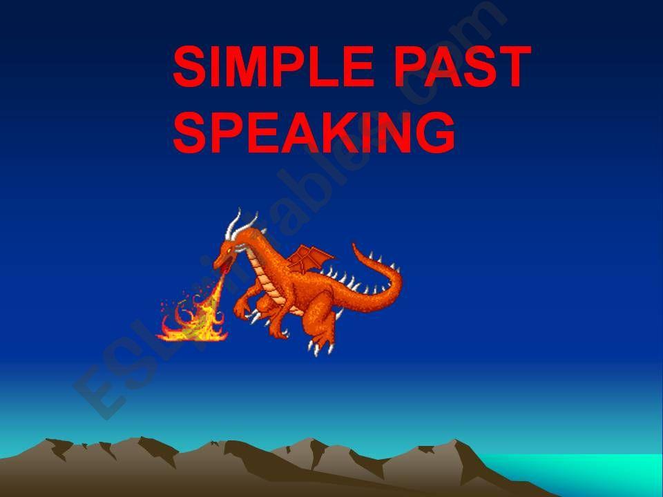 SIMPLE PAST SPEAKING powerpoint