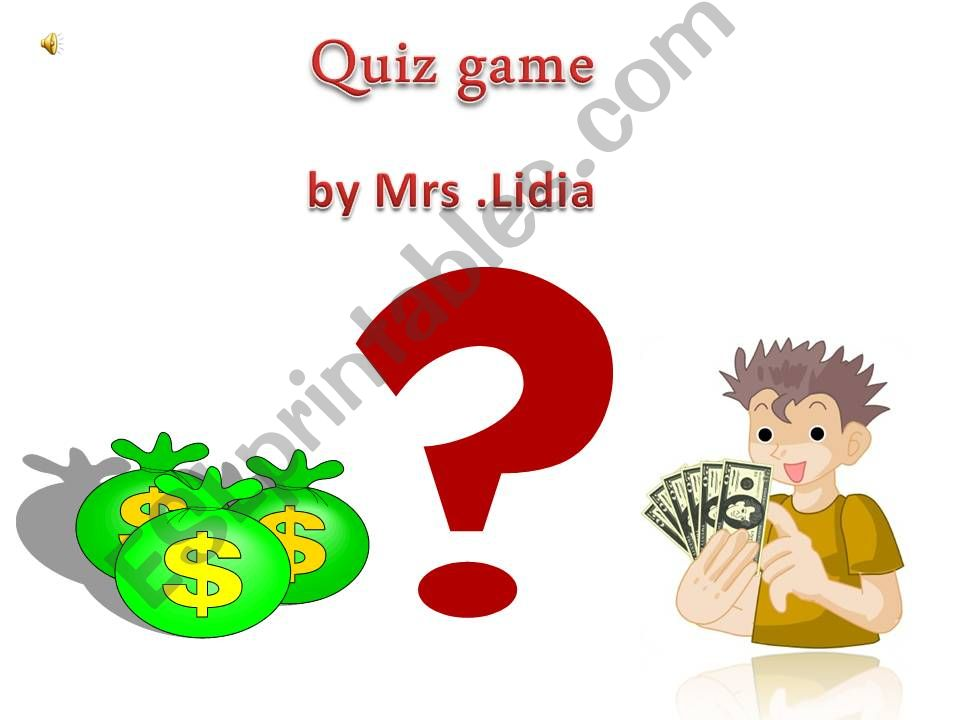 quiz game  with sounds powerpoint