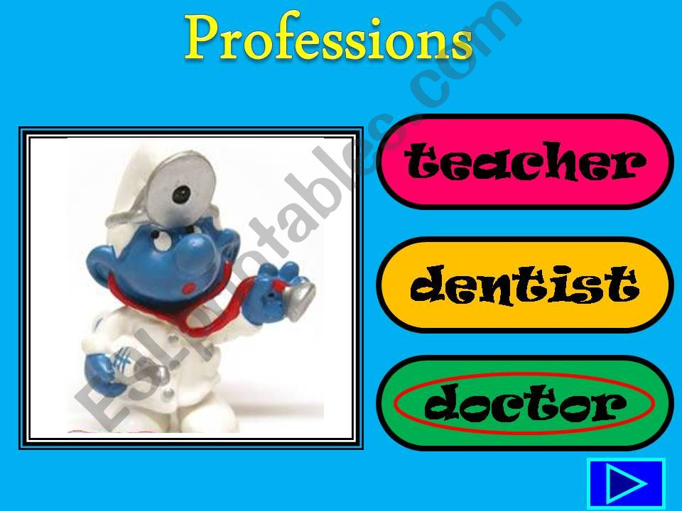 Smurf Professions powerpoint