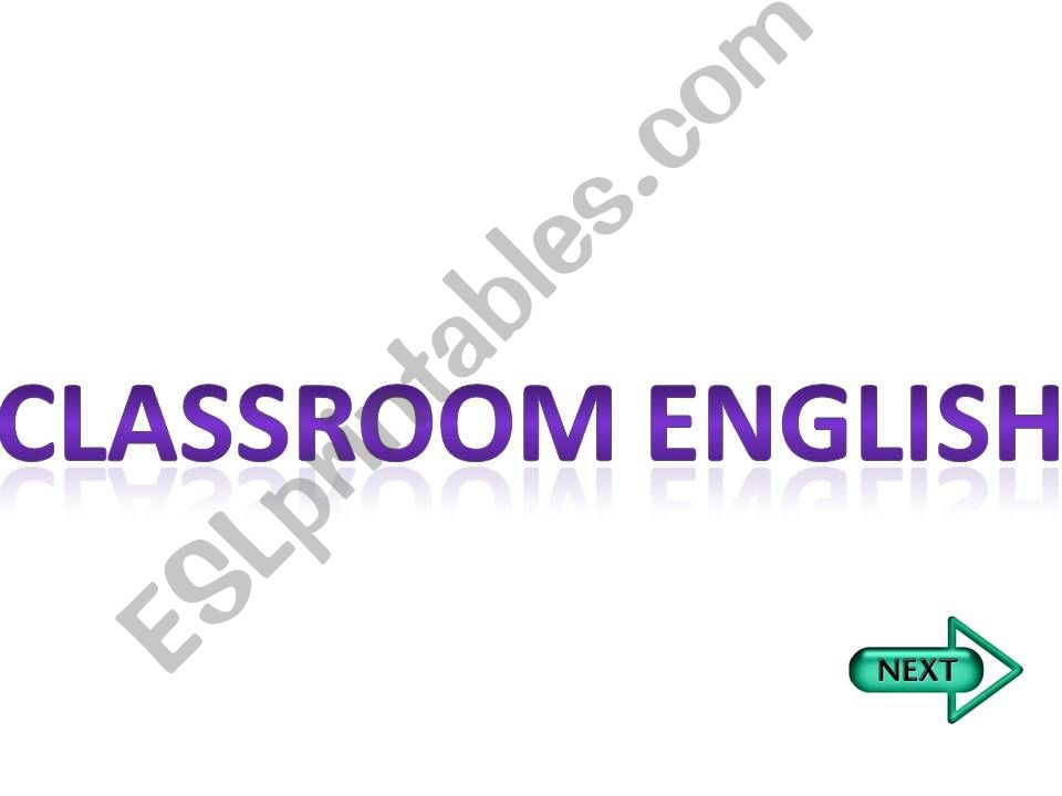 classroom english powerpoint