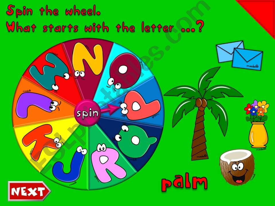 The English Alphabet *J-R* - GAME (2)