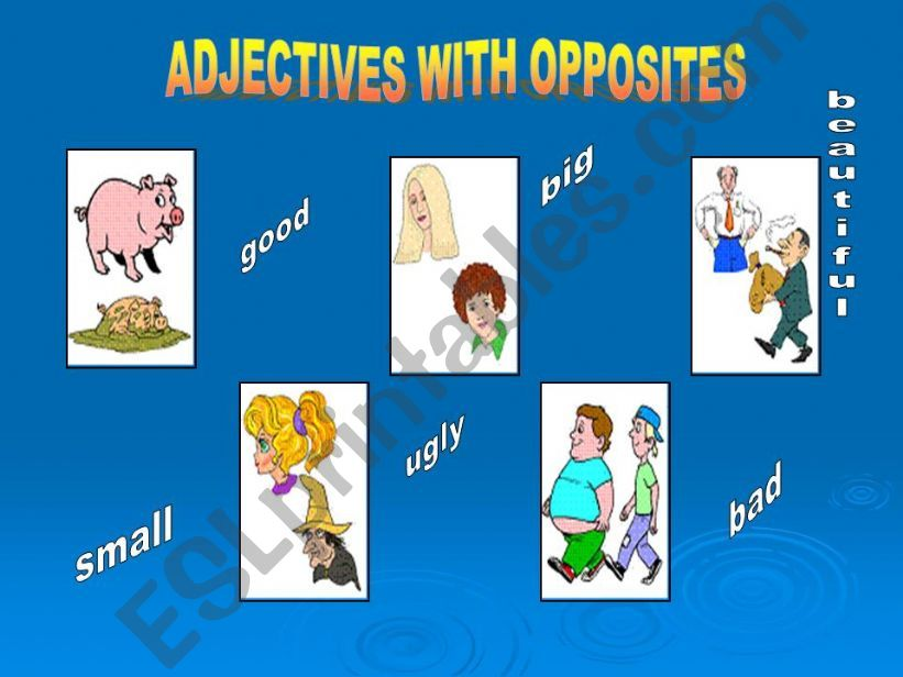 Adjectives with Opposites powerpoint