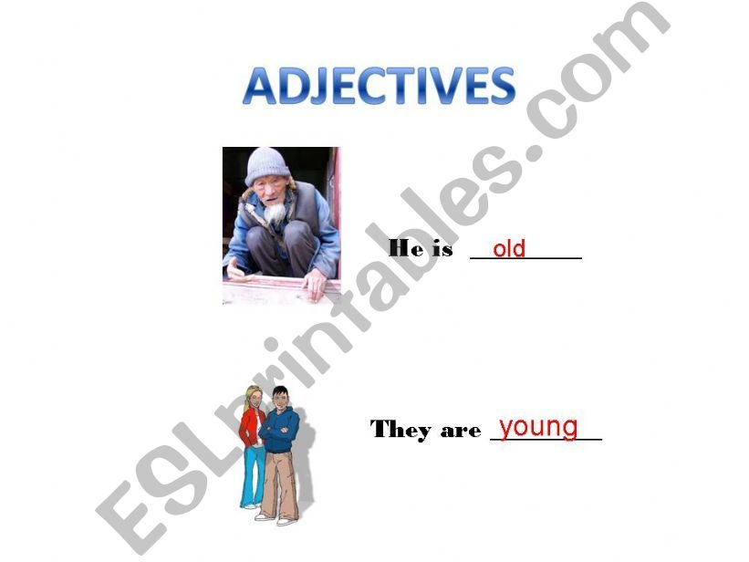 Adjectives - Part 1 powerpoint