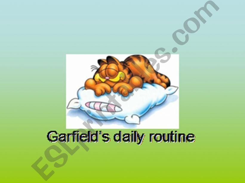 Daily routine-Garfield´s daily routine 1
