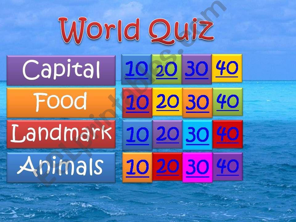 World Quiz powerpoint