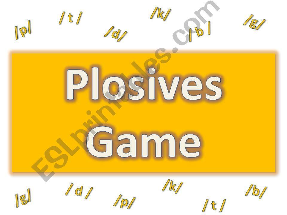 Plosives Game Clue (part 1/ 2)
