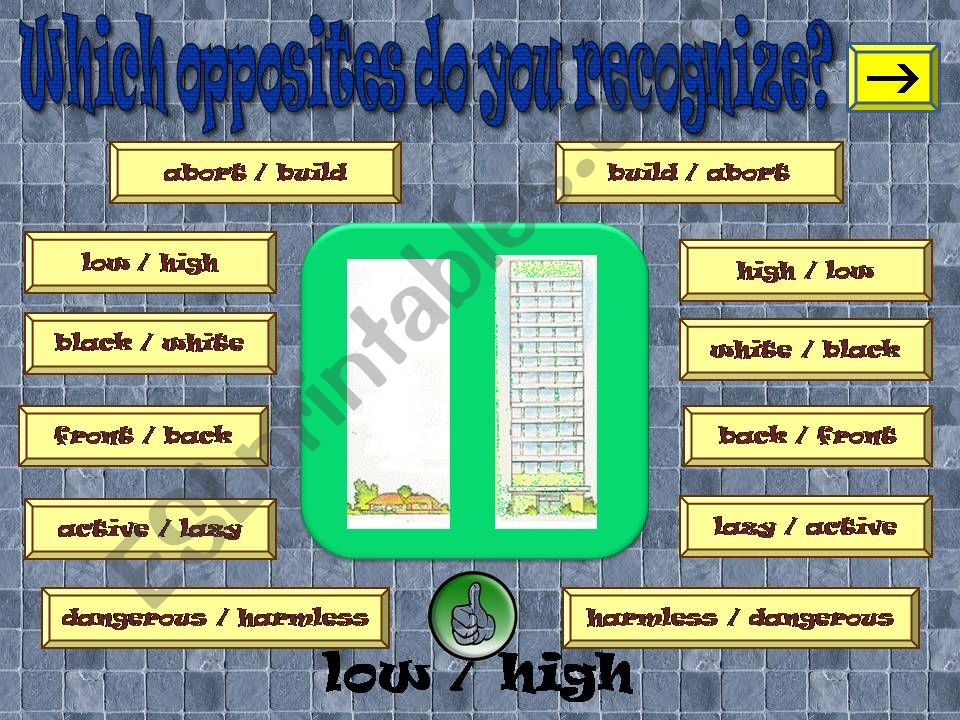 OPPOSITES 2 part 2 powerpoint