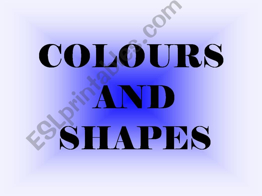 Colours and shapes powerpoint