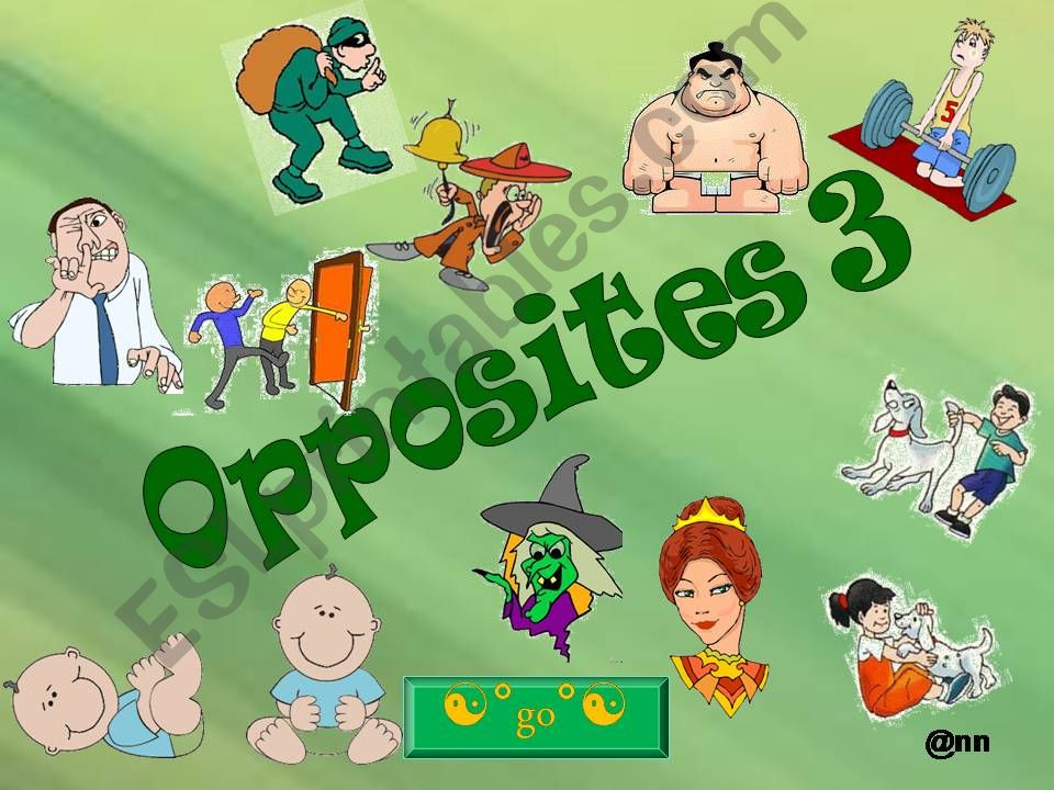WHICH OPPOSITES DO YOU RECOGNIZE? 3 PART 1/