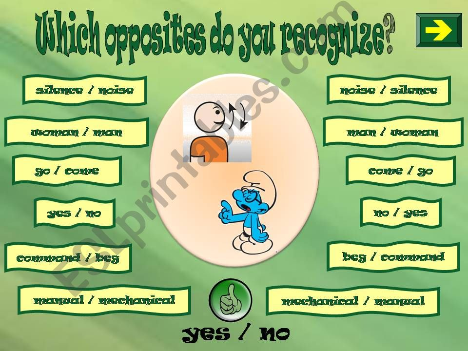 WHICH OPPOSITES DO YOU RECOGNIZE? 3 PART 3