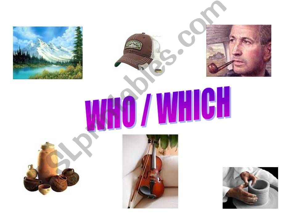 WHO /WHICH ? powerpoint