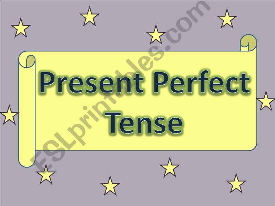 Present Perfect with Game powerpoint