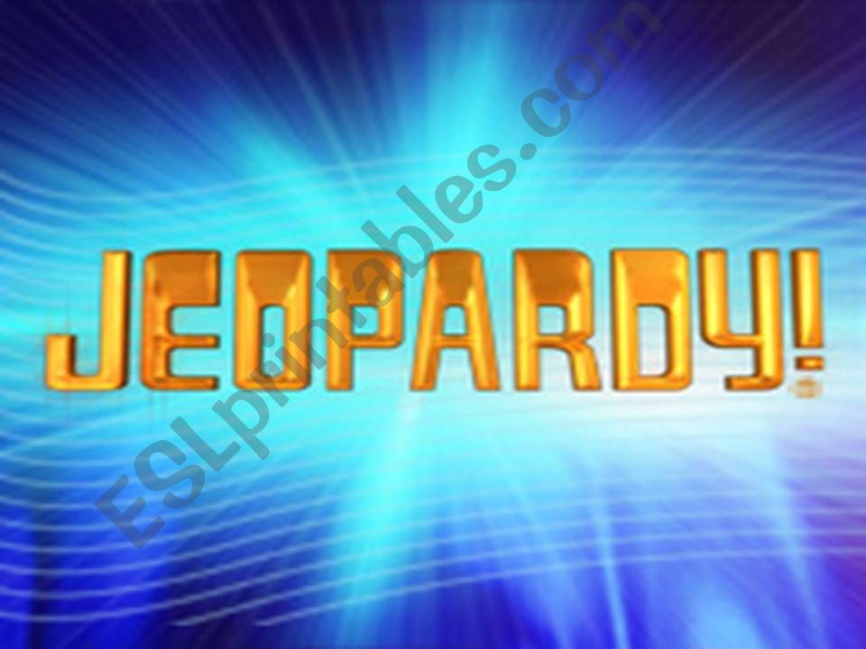 Jeopardy game - review 1/2 powerpoint