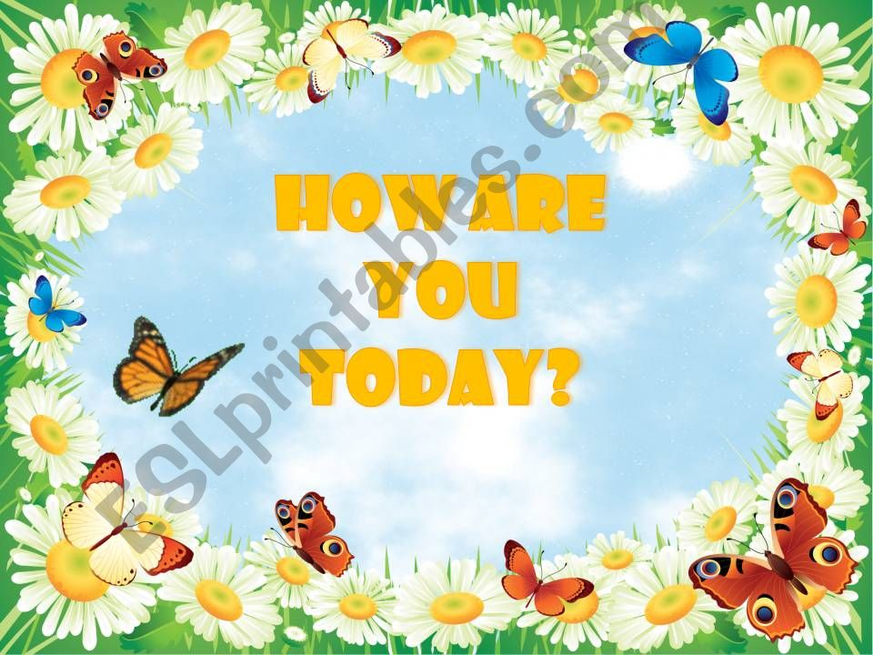 How Are You Today? #2 powerpoint