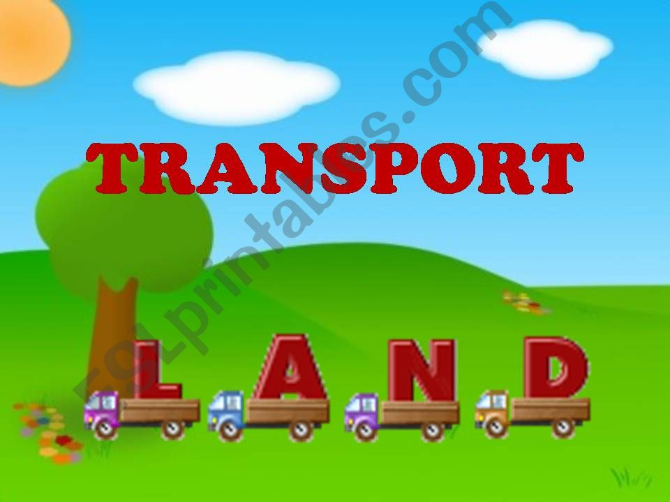 Transport (Land) 1/3 powerpoint