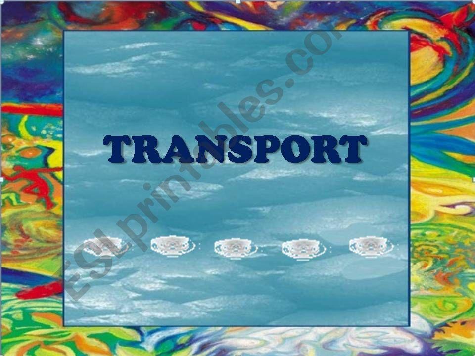 Transport (Water) 2/3 powerpoint