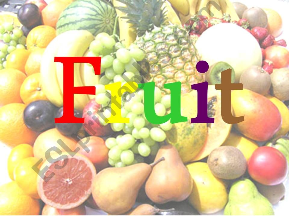 Fruit Quiz powerpoint