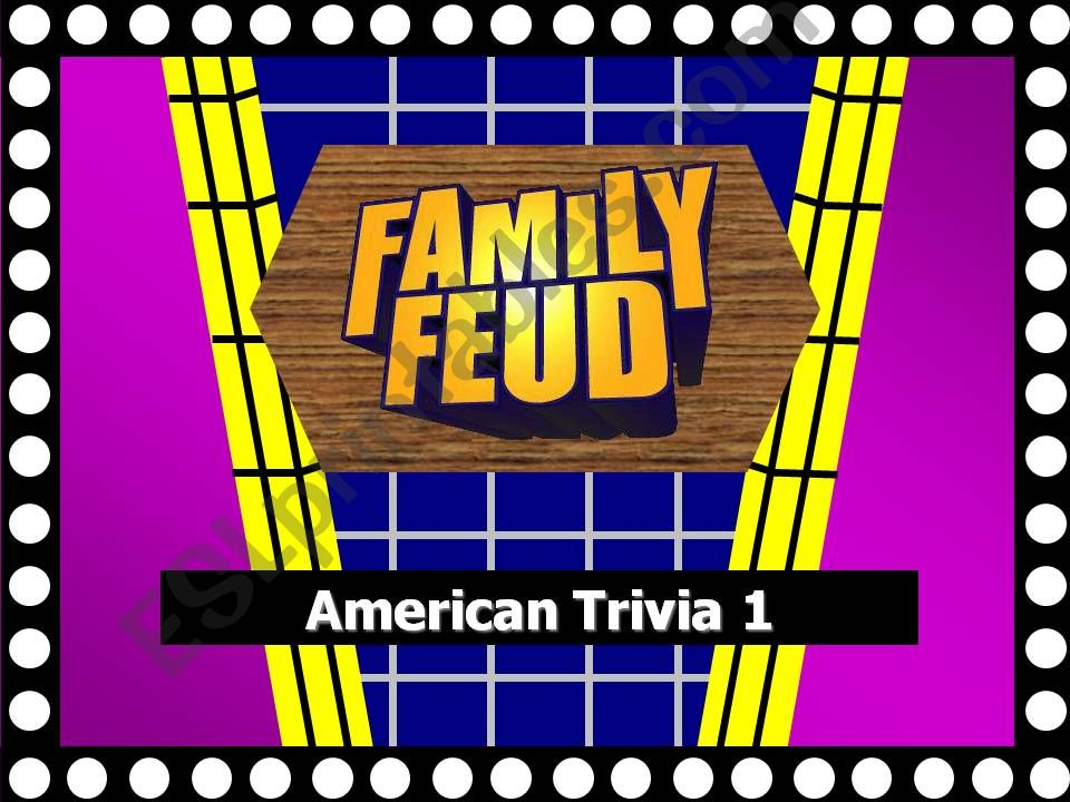 Family Feud Questions about the US