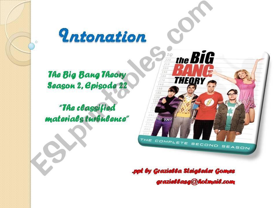 Intonation - The Big Bang Theory