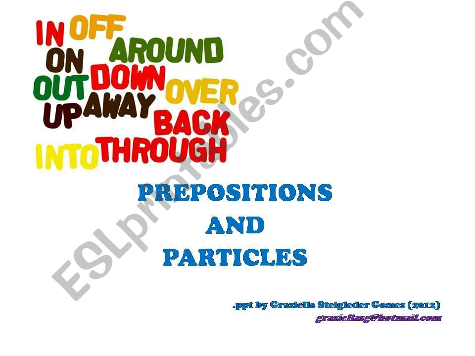 Preposition and Particles powerpoint